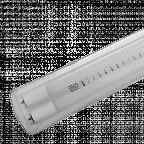 Feuchtraumfassung Feuchtraum-Wannenleuchte für 2 LED Röhren Länge wählbar
