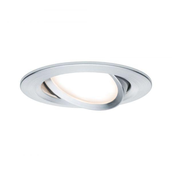 Paulmann Einbauleuchte 3er-Set Coin Slim rund schwenkbar LED 6,8W Alu