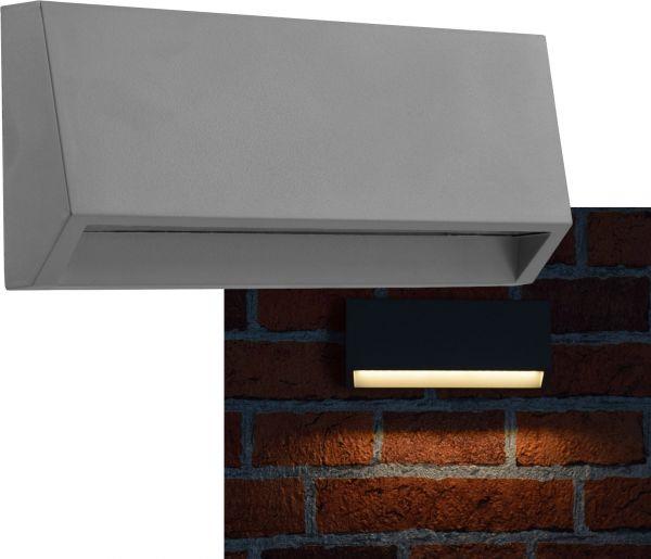 "LED Wandleuchte ""KWL-158"", eckig IP65, 3W, 200Lm, Kunststoff, warmweiß"