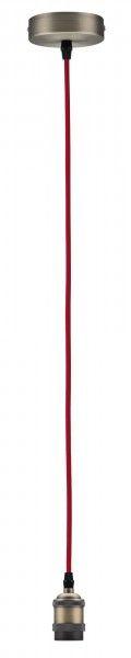 Paulmann Vintage-Pendel mit E27-Fassung rot/brüniert