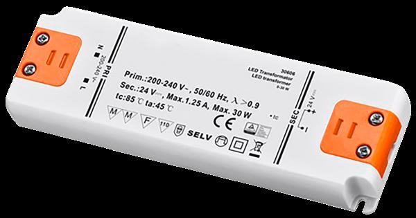 LED Trafo 30W, elektronisch, 24V DC