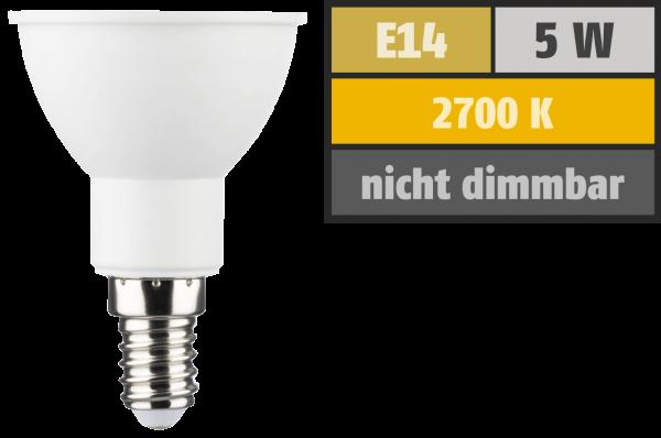 LED Reflektor PAR16, E14, 5W, 350lm, 2700K, warmweiß