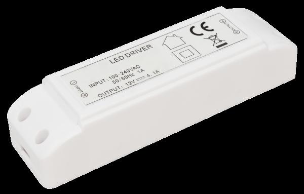 LED-Trafo McShine, elektronisch, 1-50W, 230V auf 12V, 160x50x35mm