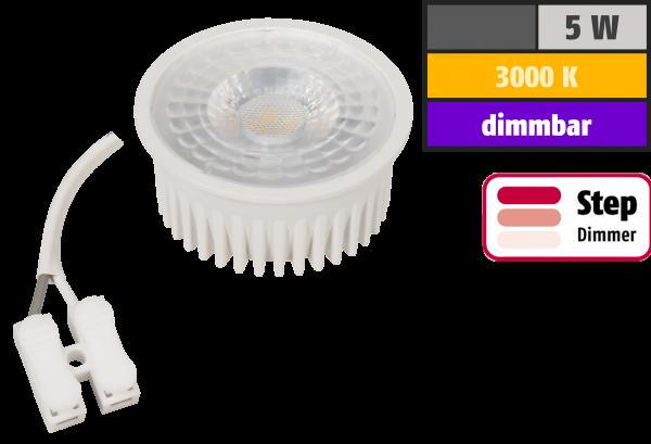 LED-Modul McShine MCOB 5W, 400lm, 230V, 50x25mm, warmweiß, 3000K, step-dimmbar
