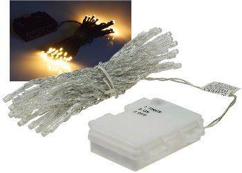 "LED Batterie-Lichterkette ""CT-TK50"" 5m warmweiß, IP44, 50 LEDs, mit 6 Std.Timer"