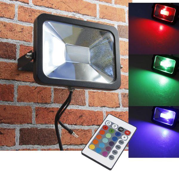 "LED-Fluter SlimLine ""CTF-SL30W RGB"" IP44, 230V, RGB mit Fernbedienung"