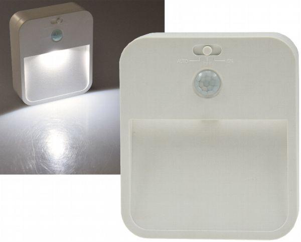 LED Treppenlicht mit Bewegungsmelder silber