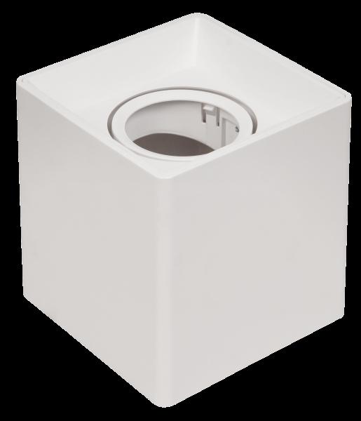 Aufbaurahmen McShine DL-900 eckig, 93x93x100mm, schwenkbar, weiß