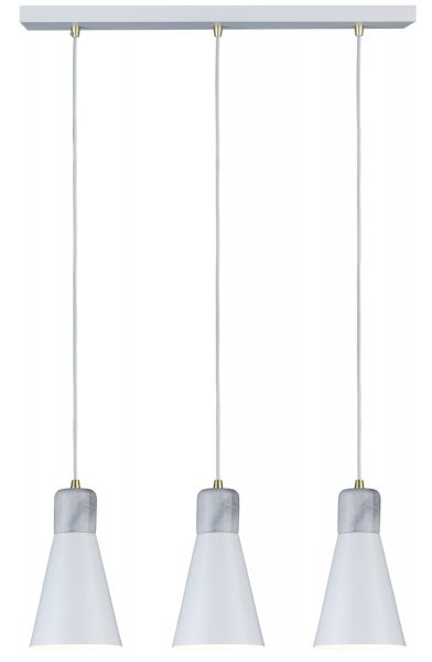 Paulmann Neordic Ivar Pendelleuchte max 3x20W E27 Weiß matt 230V Metall/Marmor