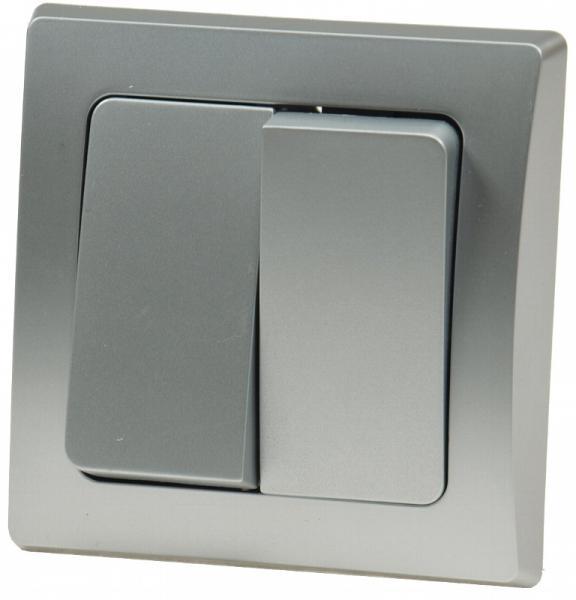 DELPHI 2-fach Serien-Schalter Silber
