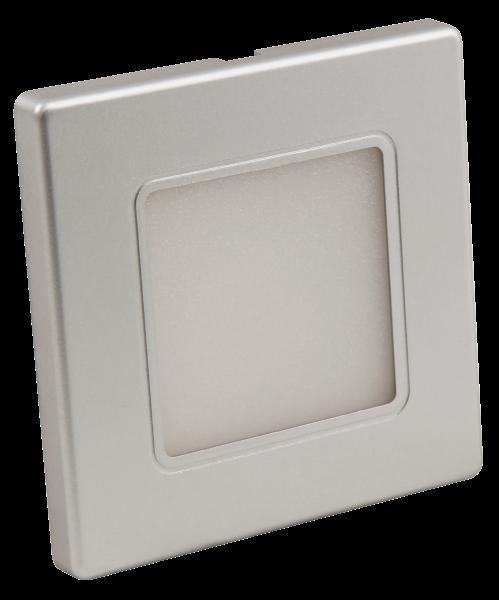 LED-Wand-Einbauleuchte McShine LWE-86S 2W, 100lm, warmweiß, silberner Rahmen