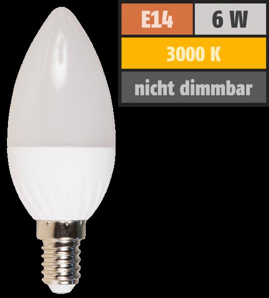 LED Kerzenlampe McShine, E14, 6W, 480lm, 160°, 3000K, warmweiß, Ø37x98mm