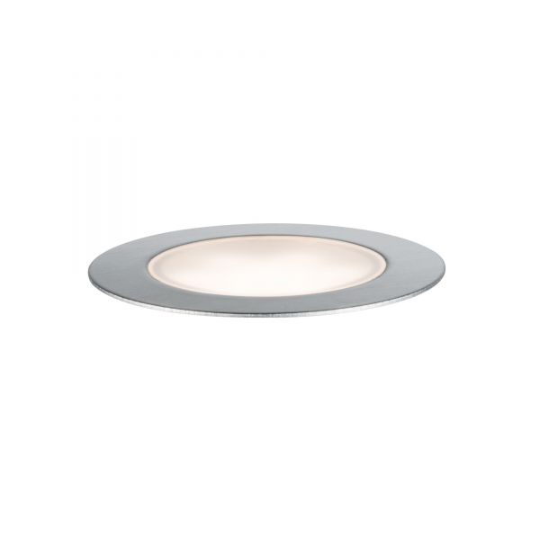 Paulmann Plug & Shine Bodeneinbauleuchte Floor Eco IP65 3000K 1W 24V silber