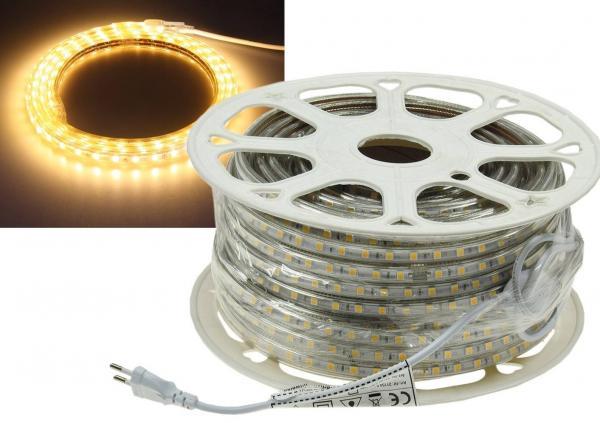 LED-Stripe Ultra-Bright 230V 50 Meter mit 500 Watt und 30000 Lumen in Warmweiß