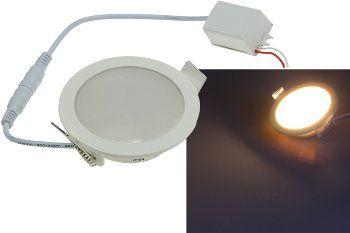 """LED Licht-Panel """"CP-90R"""", Ø 90mm, IP54 230V, 5W, 400 Lumen, 2900K / warmweiß"""