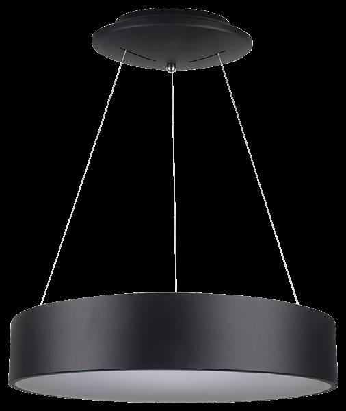LED Hängeleuchte mit Metallring, 20W, 1725lm, 140LED's, warmweiß Ø 450mm, schwarz