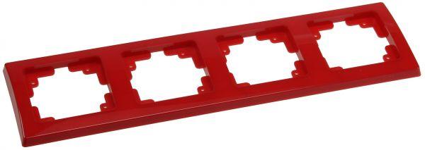 DELPHI 4-fach Rahmen rot