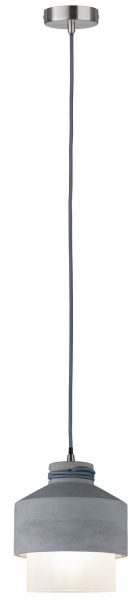 Paulmann Neordic Helin Pendelleuchte max.1x20W E27 Grau/Satin 230V Beton/Glas