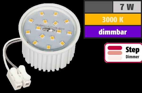 LED-Modul McShine, 7W, 510 Lumen, 230V, 50x33mm, warmweiß, 3000K, step-dimmbar