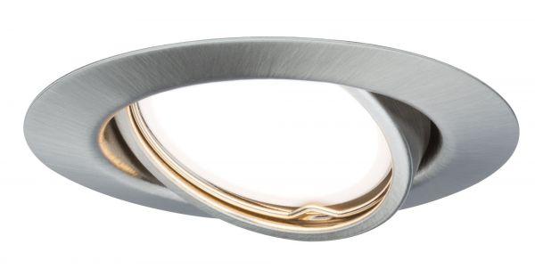 Paulmann TIP EBL Set rund schwb LED stufen-dim 3x4,8W 475lm 230V 51mm Eisen geb/Metall