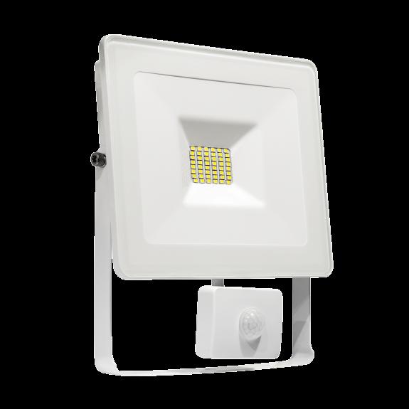 LED Fluter / Scheinwerfer NOCTIS Lux in Weiß 20 Watt mit Bewegungsmelder Lichtfarbe wählbar