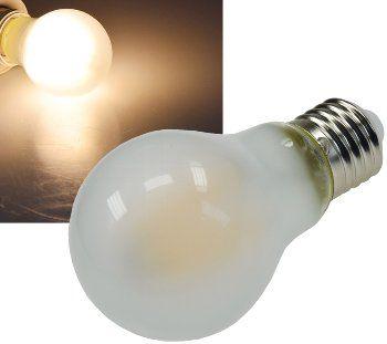 "LED Glühlampe E27 ""Filament G60m"" matt 3000k, 860lm, 230V / 8W, warmweiß"