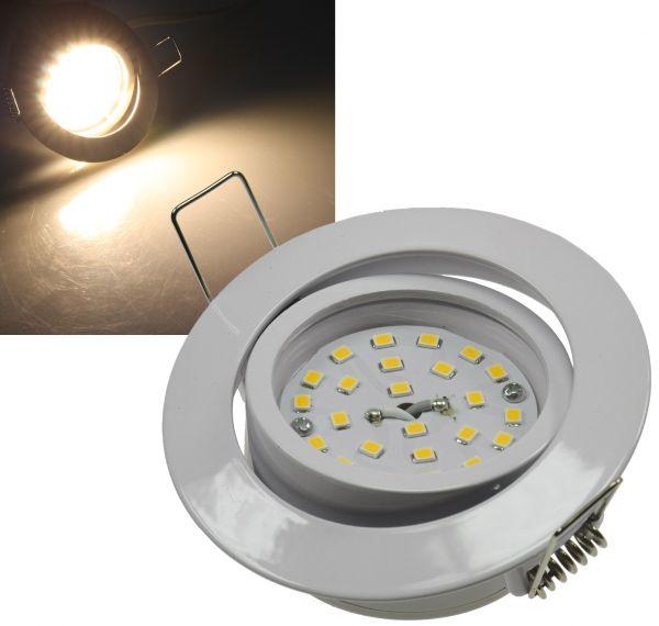 """LED-Einbauleuchte """"Flat-32"""" warmweiß 80x32mm, 5W, 470lm, weißes Gehäuse"""