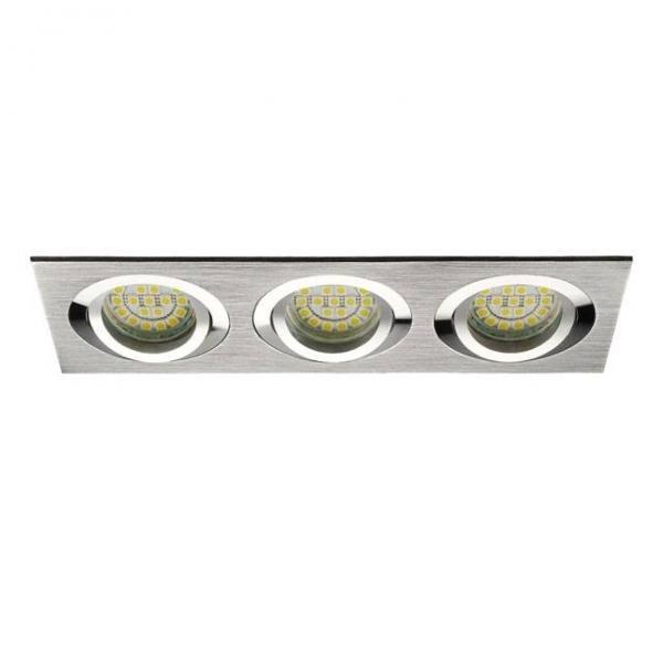 Dreifach Deckeneinbaurahmen gebürstetes Aluminium Silber