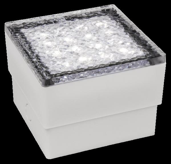 LED-Bodenleuchte McShine Pflasterstein 10x10x7cm, 80lm, IP65, warmweiß, 230V