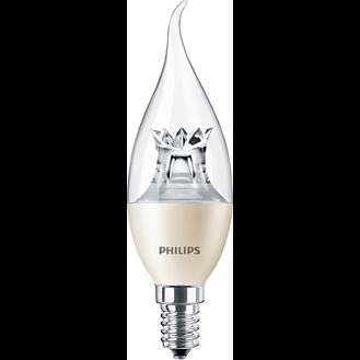 Philips Master LEDcandle klar geschwungen 6W E14 DimTone