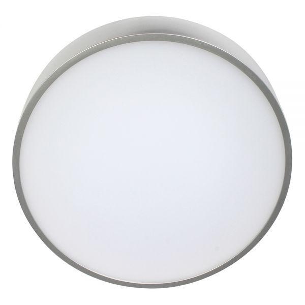 Bioledex PIXBO LED Deckenleuchte 24W Ø30cm 3000K Silber Warmweiss