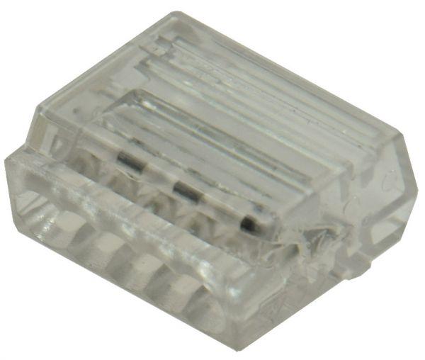 Steckbare Dosenklemmen, 50er Pack 1-polig, 5 Klemmstellen, 1-2,5mm²