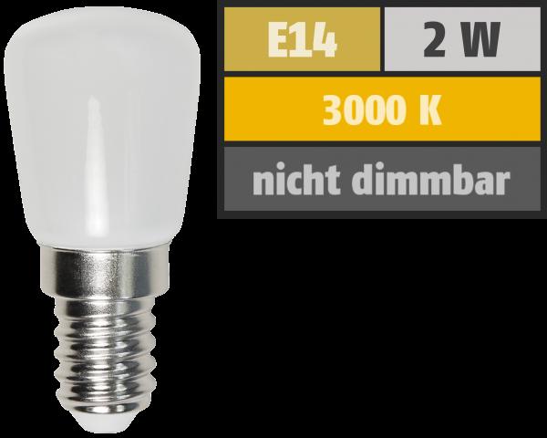 LED Kolbenlampe McShine, E14, 2W, 160lm, 260°, 23x51mm, warmweiß