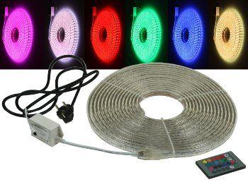 """LED-Stripe """"RGB-Pro"""" 230V, 10 Meter IP44, inkl. IR-Fernbedienung"""