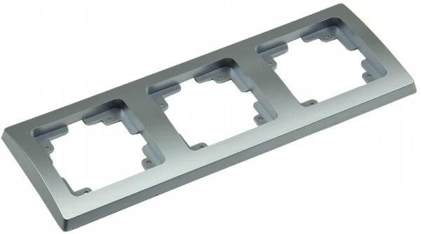 DELPHI 3-fach Rahmen in Silber