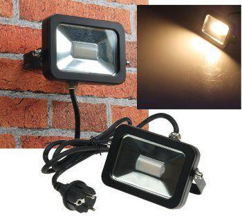 """LED-Fluter SlimLine """"CTF-SL10B"""" schwarz 10W, IP44, 760 Lumen, 3000K, warmweiß"""