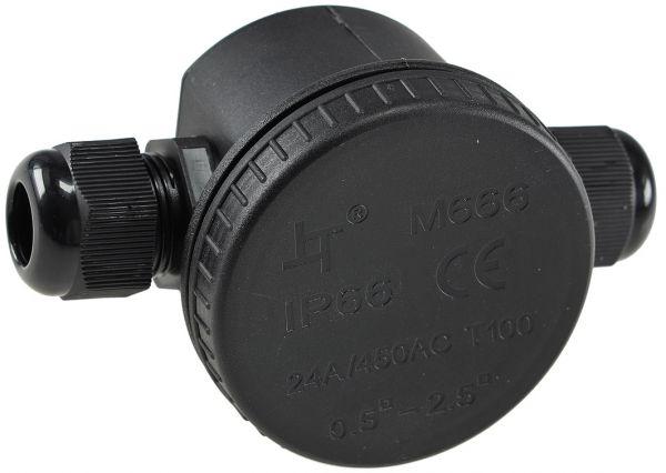 Kabelverbinderdose, 2 Anschlüsse, IP66 12V bis 230V, wasserdicht