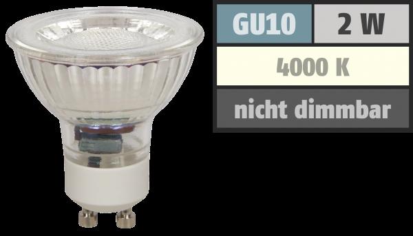 LED-Strahler McShine MCOB GU10, 2W, 100lm, neutralweiß
