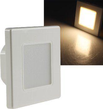 """LED Wand-Einbauleuchte """"EBL 86"""" 2,5W, 3000k, warmweiß, Rahmen cremeweiß"""