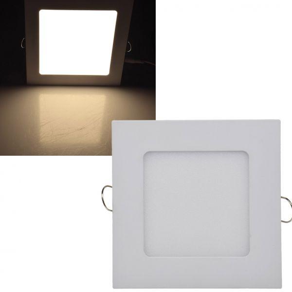 "LED Licht-Panel ""QCP-12Q"", 12x12cm 230V, 6W, 420 Lumen, 2900K / warmweiß"