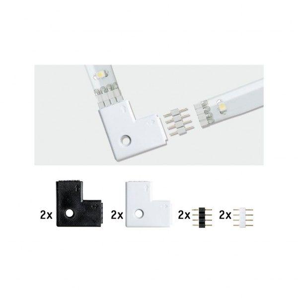 Paulmann YourLED Eck-Verbinder 90° 4er Pack weiß/schwarz