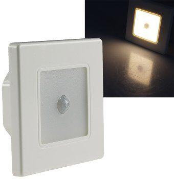"LED Wand-Einbauleuchte ""EBL 86 PIR"" 2,5W, 3000k, warmweiß, Rahmen cremeweiß"