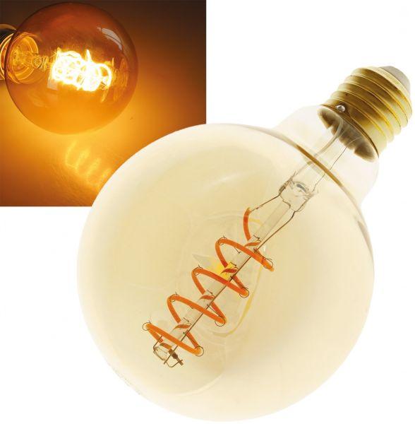 "LED Globelampe 95mm E27 ""Vintage G95"" 2000k, 280lm, 230V/4W, warmweiß/amber"