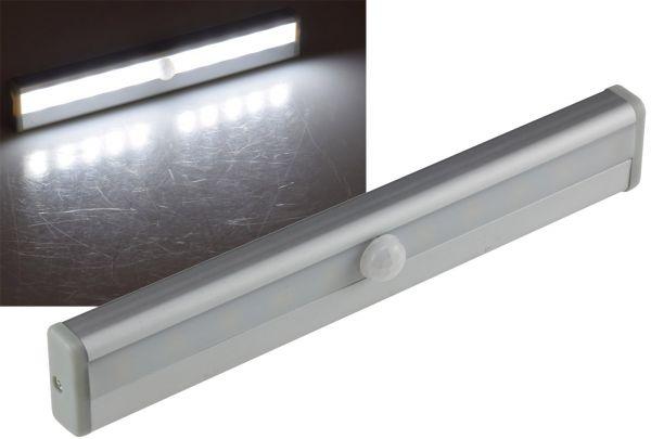 "LED Unterbauleuchte ""LUB-ALU10"" 80Lm 4x AAA / Micro, 10 Leds, Licht: weiß"