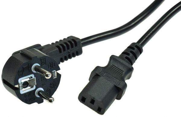 Kaltgeräte Netzkabel 1,5m H03VV-F3G 0,75 mm² 10/16A/250V, schwarz
