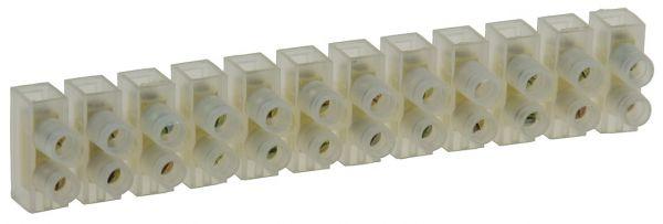 Lüsterklemmen für 1,5-2,5mm², 12 Klemmen Messingeinsatz, transparent