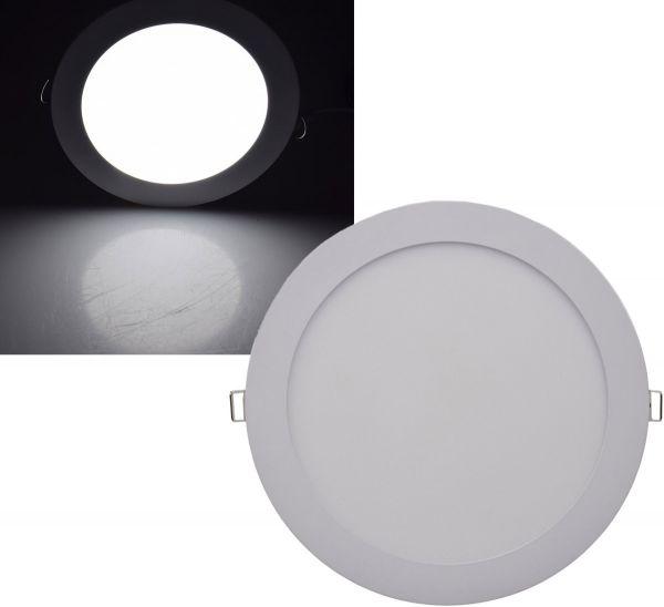 "LED Licht-Panel ""QCP-22R"", Ø 22,5cm 230V, 18W, 1340 Lumen,4200K /neutralweiß"