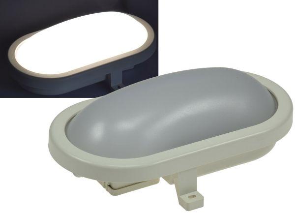 """LED Oval-Armatur """"FRL-O 12"""" IP44 Feuchtraum-Leuchte, 12W, 1000lm, 4200K"""