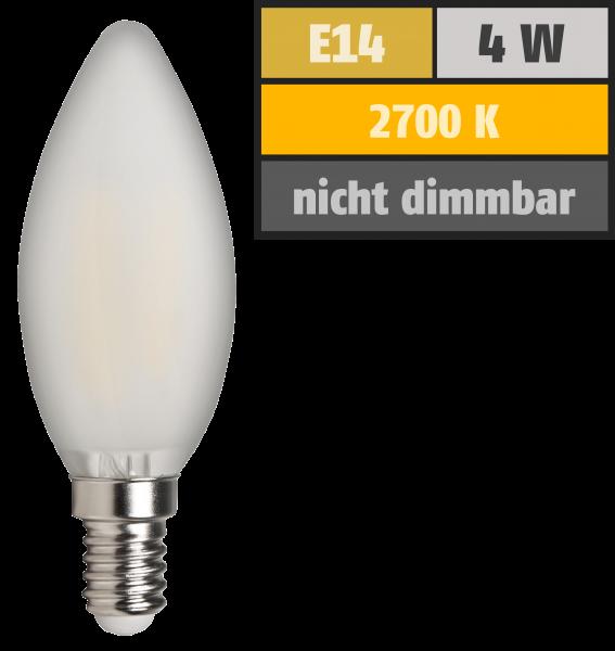 LED Filament Kerzenlampe McShine Filed, E14, 4W, 370 lm, warmweiß, matt