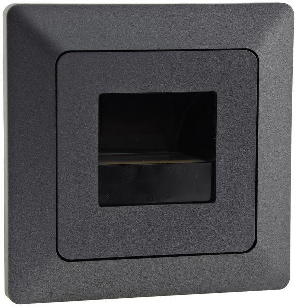 """MILOS LED-Einbauleuchte """"COB"""" Anthrazit 80x80mm, 3000k, warmweiß, 110Lumen"""